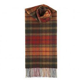 шарф 100% шерсть ягнёнка ,тартан клана Бьюкенен (осенний вариант)  Autumn Buchanan Tartan,плотность 6