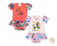 """Боди-юбка для девочек с коротким рукавом FA-BD038(2)-SUkr (супрем) код 01521  """"Мамин Малыш"""" оптом"""