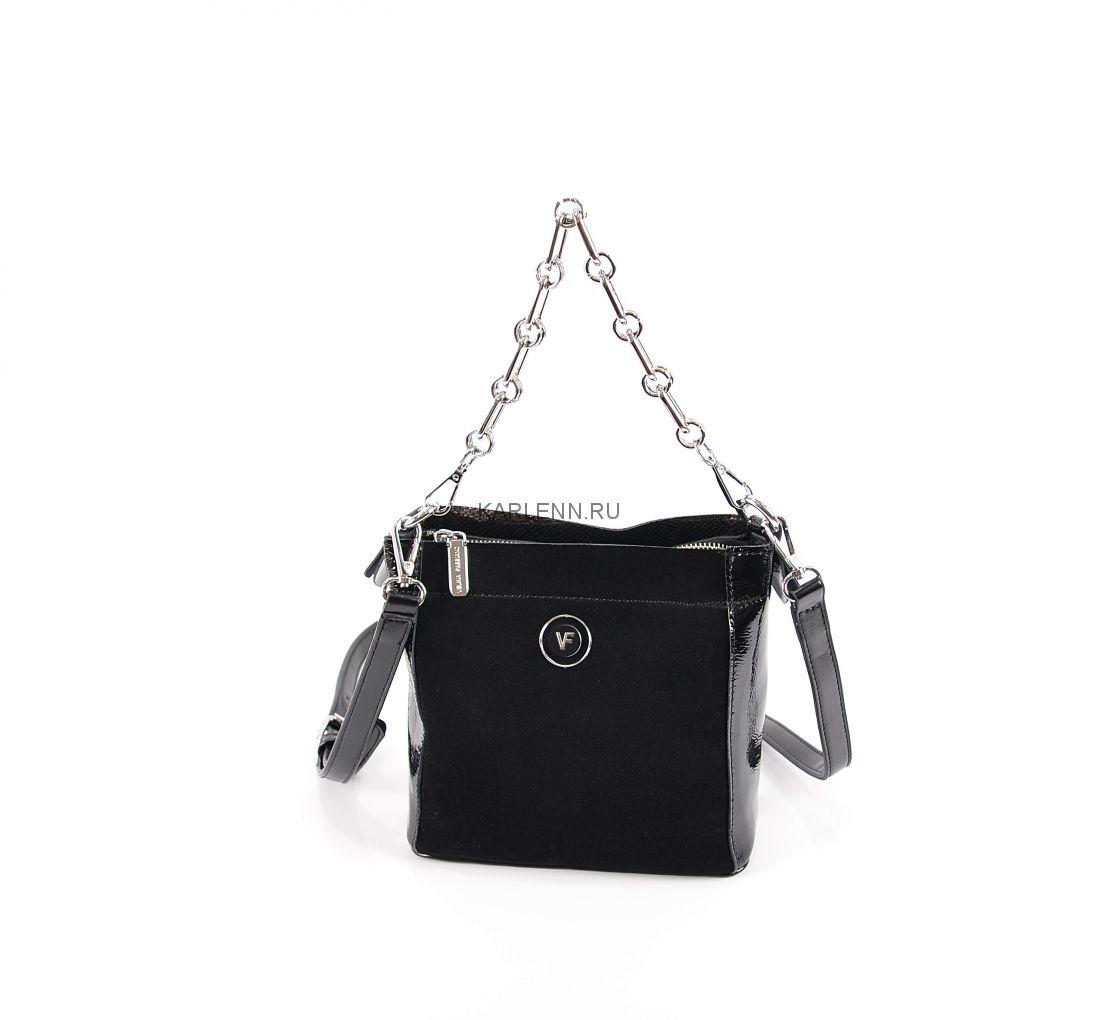 Мини сумочка на цепочке Velina Fabbiano (чёрная)