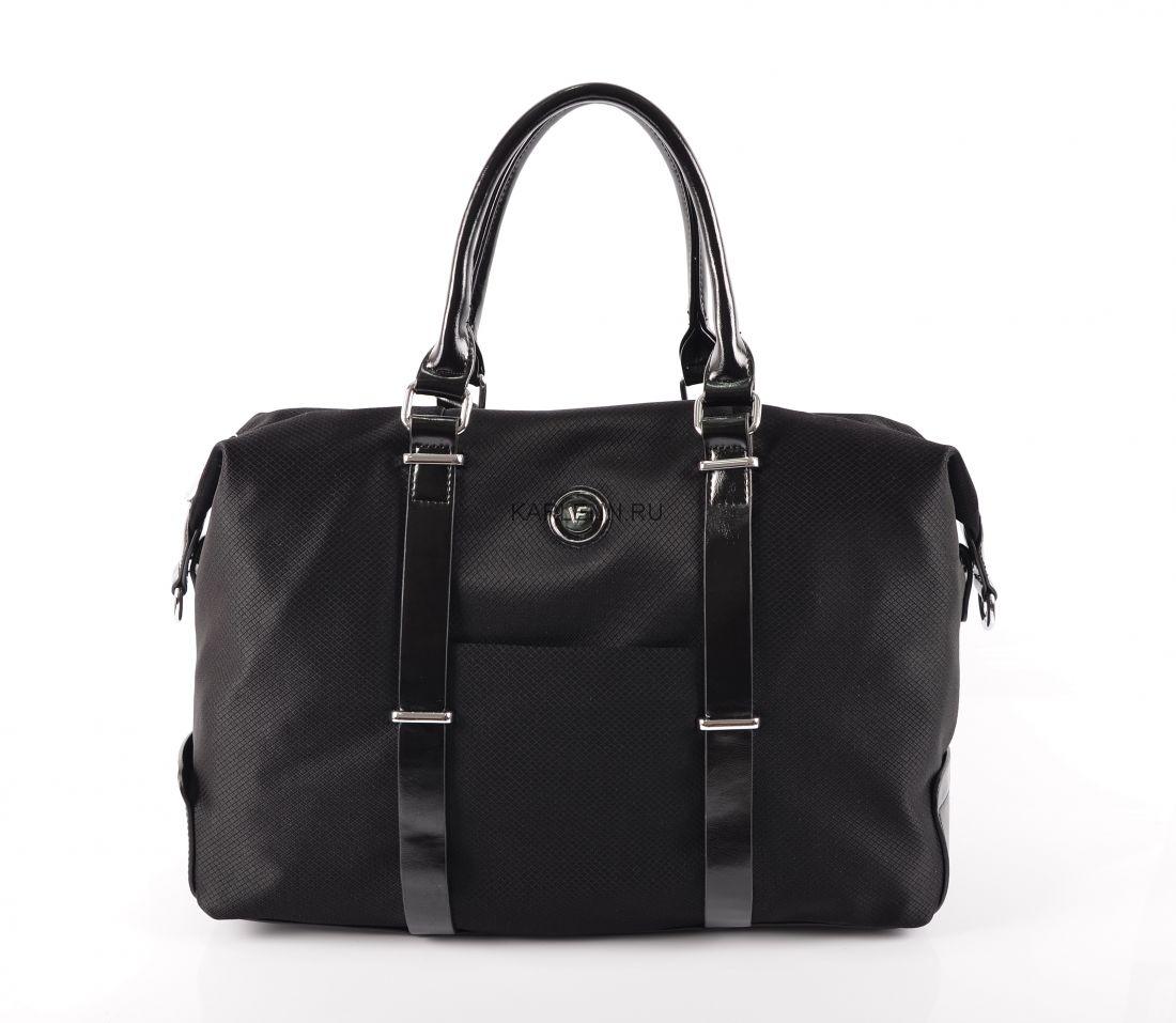 Дорожная сумка / для фитнеса Velina Fabbiano (чёрная)