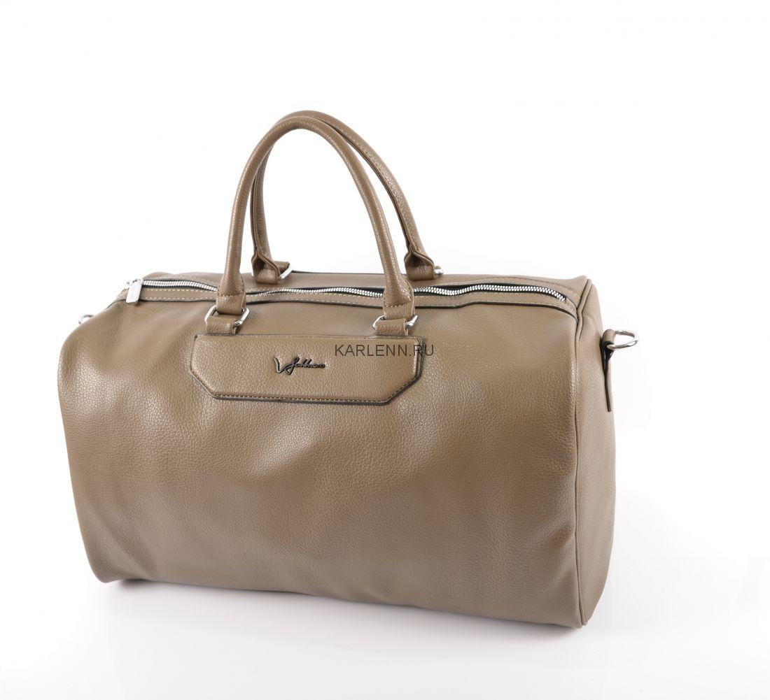 Дорожная сумка / для фитнеса Velina Fabbiano (миндальная)