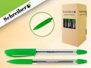 Ручка масляная, 0,7мм, цвет чернил- зеленый (Россия) (арт. S 0077)