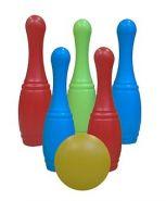 Набор кеглей. 5 шт. + 1 большой мяч (сетка) (арт. И-1626)