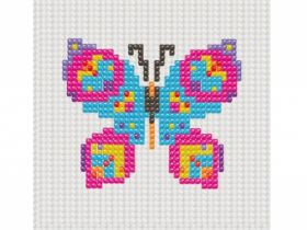 """Набор для вышивания бисером для малышей. 33х40 кл. """"Бабочка"""" (арт. НШ-7303)"""