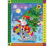 """Мозаика из пайеток """"Снеговик"""", А4 (арт. М-8543)"""