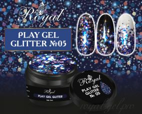 05 Gel PLAY GLITTER  Royal 5мл.