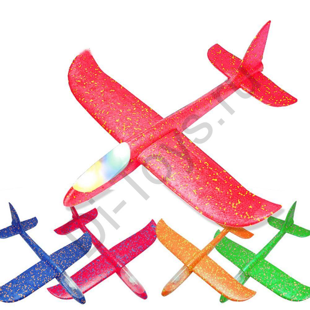 Планер-Самолет метательный светящийся ( 45см )