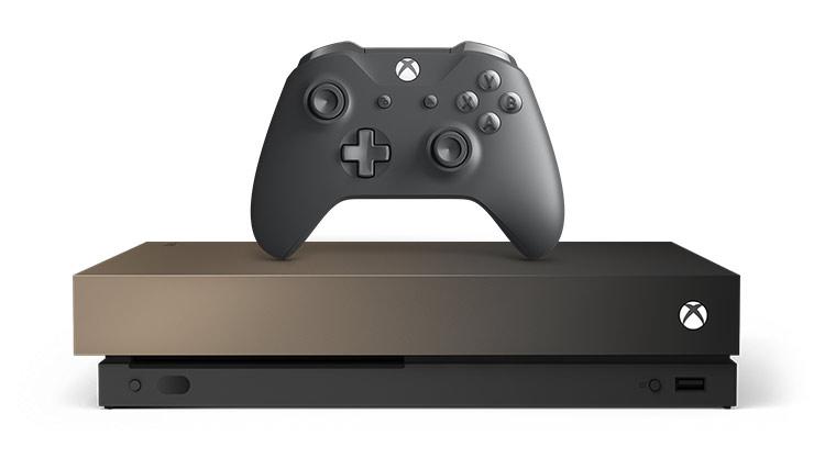Игровая приставка Xbox One X 1TB Gold Rush Special Edition