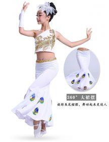Детский танцевальный костюм для девочки Белый