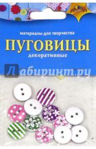 Декоративные пуговицы круглые, с узором(С3119)