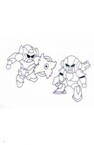"""Витражи-средние """"Роботы-1"""" 2 штуки (23857)"""