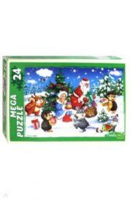 "Puzzle-24 ""Дед Мороз раздаёт подарки"" (ПМ-6982)"