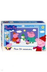"""Пазл-24 """"Peppa Pig. Мы лепим снеговика"""" (04306)"""