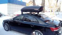 Багажник на крышу Hyundai Sonata NF, Атлант, крыловидные аэродуги