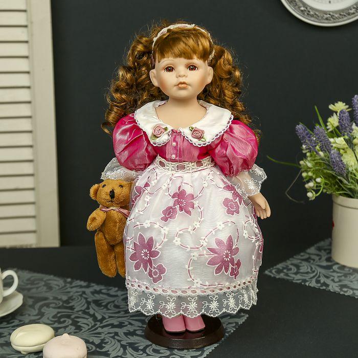 Кукла Машенька с медвежонком