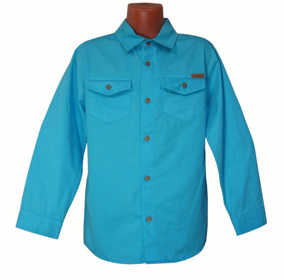 Рубашка с длинным рукавом для мальчика (бирюзовый)