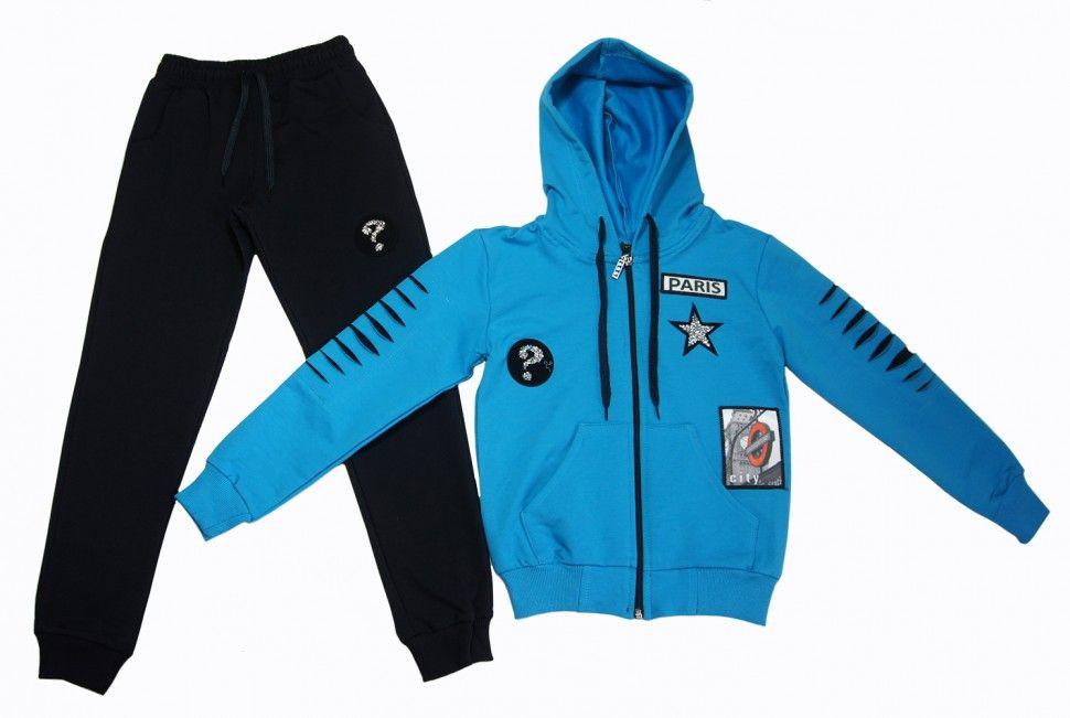 Спортивный костюм для девочки 5-8 (синий)