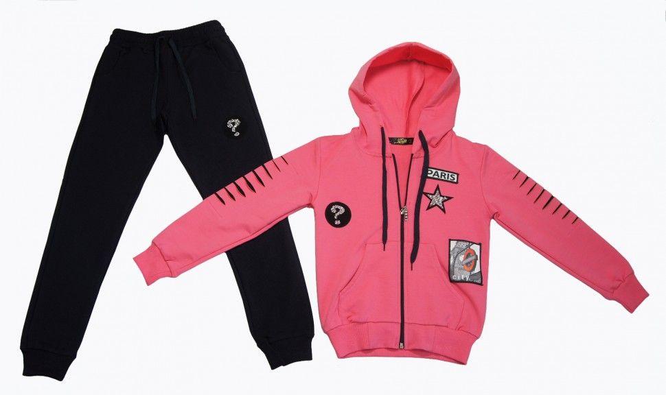 Спортивный костюм для девочки 9-12 лет (розовый)