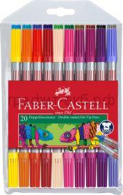 Фломастеры 20цв.Faber-Castell двухсторонние 151119