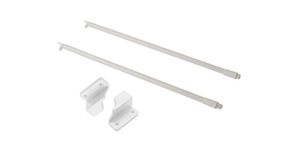 Комплект рейлингов, держатель задней стенки, белый (450 мм)