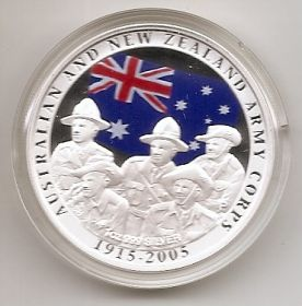 90 лет высадке в Галлиполи (1915-2005) 1 доллар Австралия