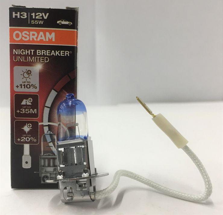 Лампа Н3 12V (55W) +110% Osram 64151NBU
