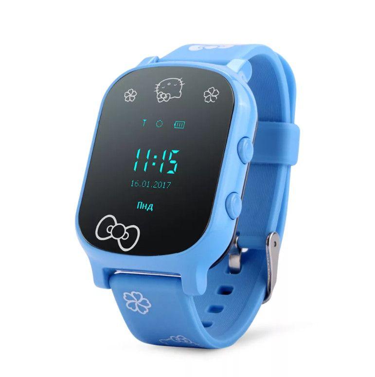 Часы с трекером Smart GPS Watch T58, цвет голубой