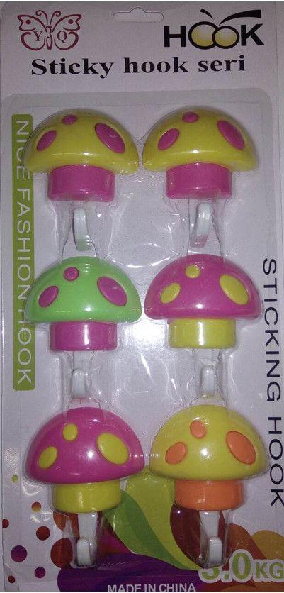 Набор настенных крючков Sticky Hook Seri, 6 шт