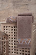 "Полотенце махровое   ""KARNA"" GIZA  (коричневое) 70*90 Арт.3194-3"