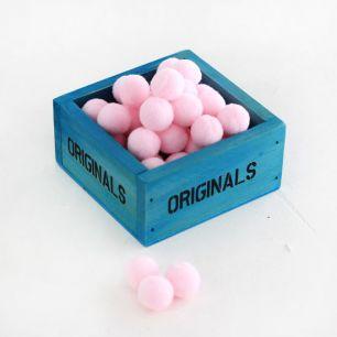Помпоны для кукол, 1 см, Розовые
