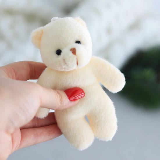 Мишка для куклы Молочный 12 см