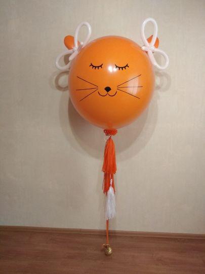 Лисичка метровый шар с декором