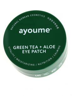 """""""АЮМ"""" GREEN TEA+ALOE EYE PATCH Патчи для глаз от отечности с экстрактом зеленого чая и алоэ 1,4"""
