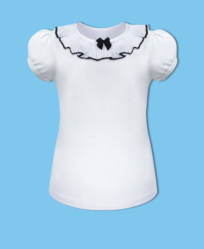 Белая школьная блузка для девочки
