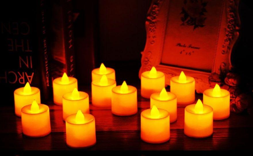 Комплект светодиодных электронных свечей - таблеток (24 штуки)