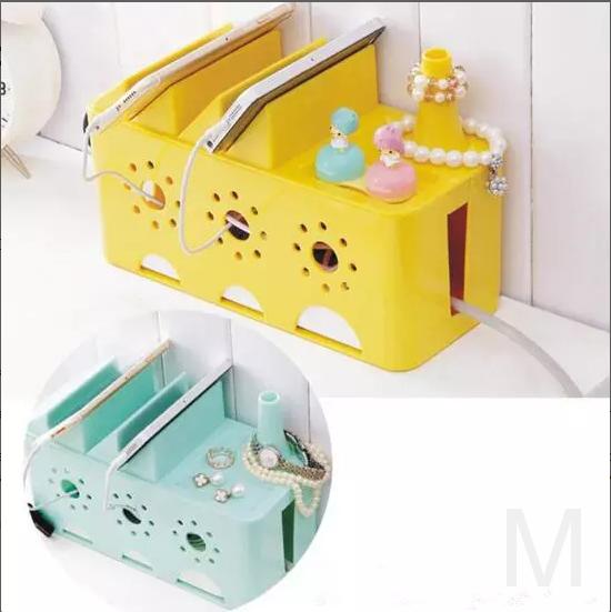 Многофункциональный органайзер для удлинителя WIRE BOX (желтый)