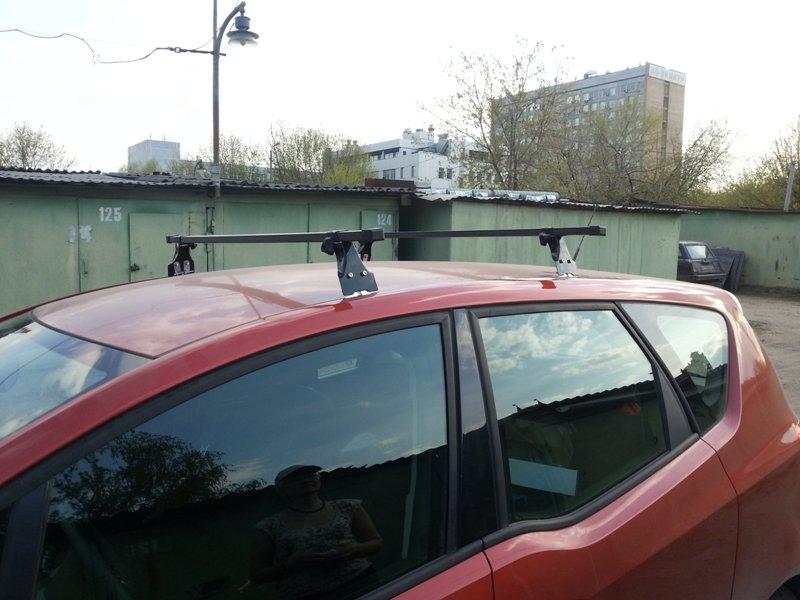Багажник на крышу Opel Meriva B 2010-..., Amos, прямоугольные стальные дуги