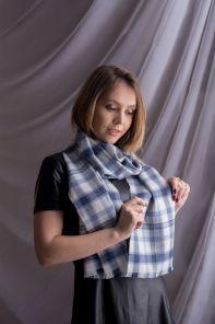 стильный шарф 100% шерсть мериноса,  расцветка  Конкергуд  Сonquergood MERINO Tartan , средняя плотность 4