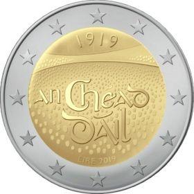 100 лет  первого заседания Дойл Эрен(Палата представителей Ирландии) 2 евро Ирландия 2019