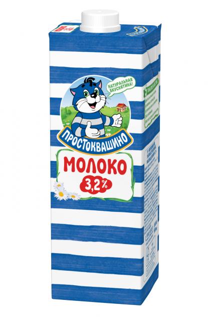 Молоко  Простоквашино  ультрапаст cap 0,95 Жирность 3,2%
