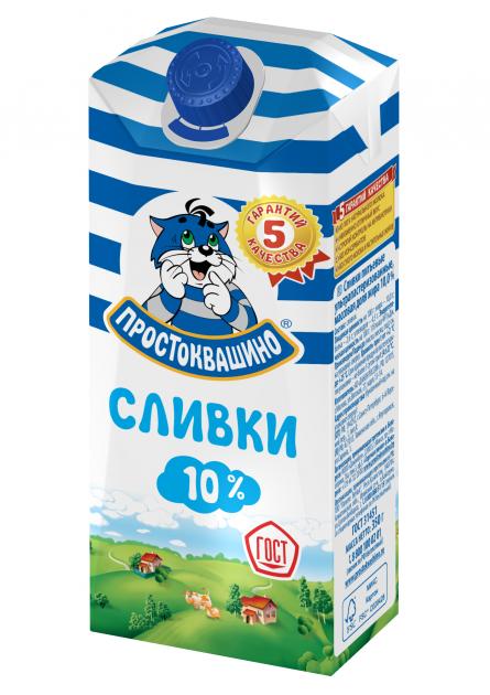 Сливки Простоквашино  10% комбифит 0,35
