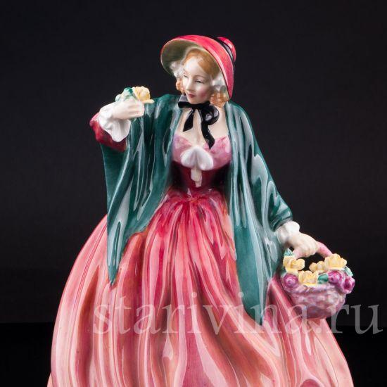 Изображение Очаровательная леди с цветами, Royal Doulton, Великобритания, вт. пол. 20 в.