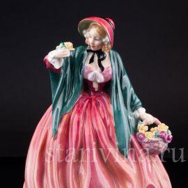 Очаровательная леди с цветами, Royal Doulton, Великобритания, вт. пол. 20 в.