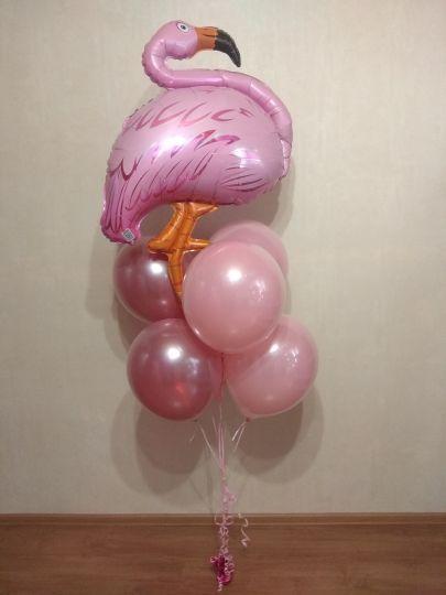 Фонтан Фламинго с авторскими шарами