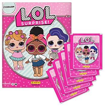 Альбом для наклеек Panini  LOL + 6 пакетов с наклейками