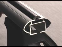 Багажник на крышу Opel Meriva B 2010-..., Lux, аэродинамические  дуги (53 мм)