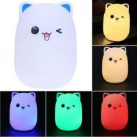 Мягкий силиконовый ночник Colorful Silicone Lamp, Мишка (1)