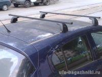 Багажник на крышу Opel Corsa D 2006-..., Amos Beta, стальные прямоугольные дуги