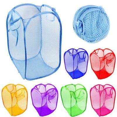 Японская сетчатая сумка для хранения грязного белья и игрушек Can Do Ltd