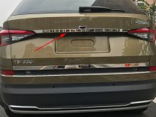 Накладка на крышку багажника, над номером, нерж. сталь